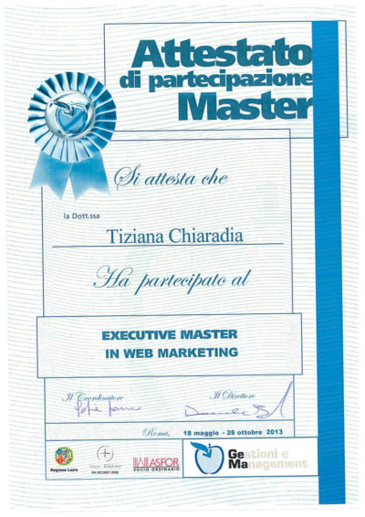 Master Web Marketing Gema Tiziana Chiaradia