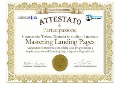attestato_Landing page Creative parkTiziana Chiaradia