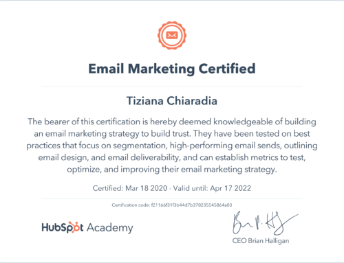Certificazione E-mail Marketing di Hubspot