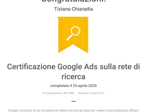 Certificazione Google Ads sulla rete di ricerca Google