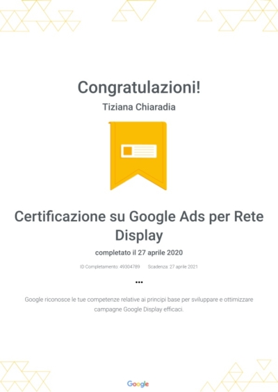 Certificazione su Google Ads per Rete Display _ Google