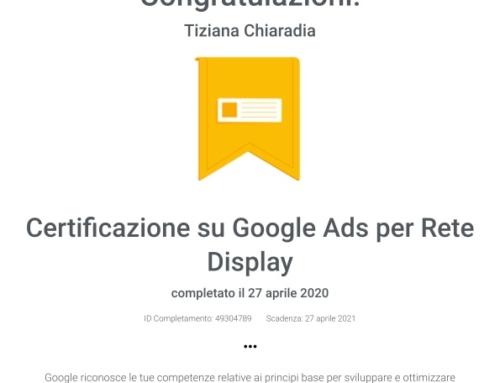 Certificazione Google Ads per Rete Display