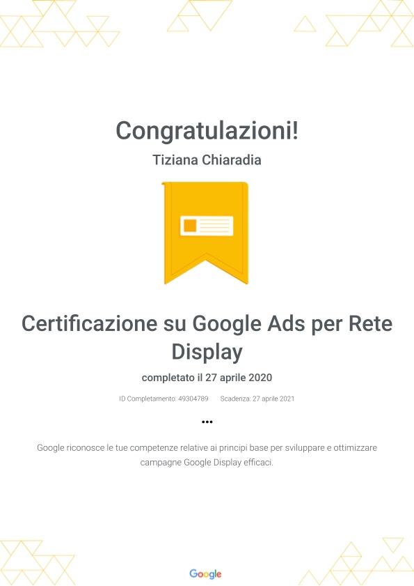 Certificazione su Google Ads per Rete Display _ Google