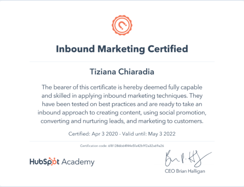 Certificazione Inbound Marketing di Hubspot