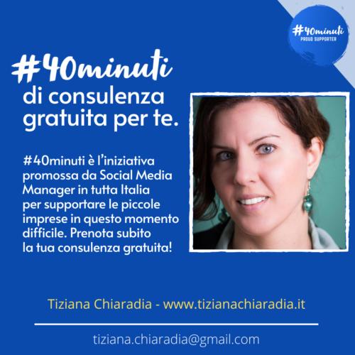 #40 minuti progetto consulenza gratuita Veronica Gentili